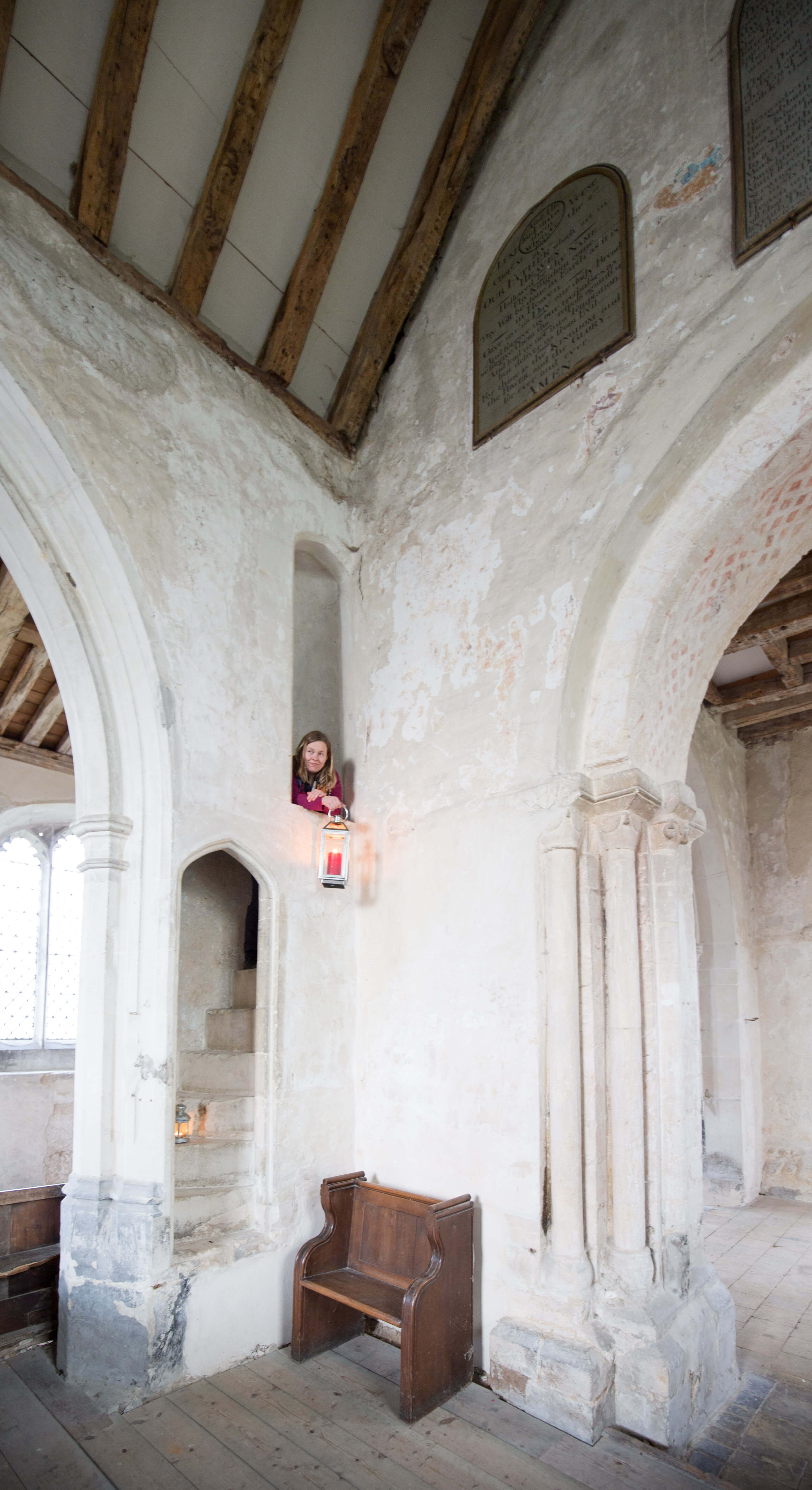 Atop the rood stair in Duxford